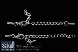 Lobster chain 3 EN15 ,4 pcs   silver