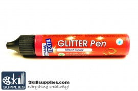Textilepen Glitter Ruby Red images