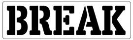 Words Stencil - Break