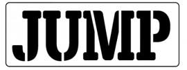 Words Stencil - Jump