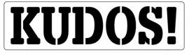 Words Stencil - Kudos