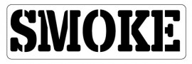 Words Stencil - Smoke