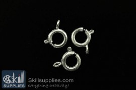 Clasp round 10mm FS4 ,20 pcs silver