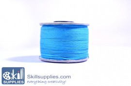 Cotton cord 0.5mm blue,10 mts