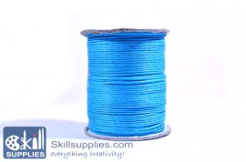 Cotton cord 1mm blue ,10mts images