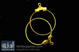 Hoops medium size  ER20 , 4 pcs   gold images