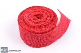 Jute ribbon 10 m Red images