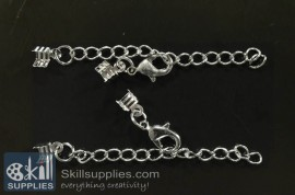 Lobster chain 4 EN16 ,4 pcs  silver
