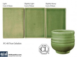 Pottery High Fire Glaze PC-40 True Celadon images