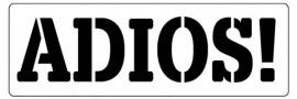 Words Stencil - Adios