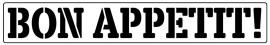 Words Stencil - Bon Appetit