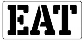 Words Stencil - Eat