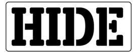 Words Stencil - Hide