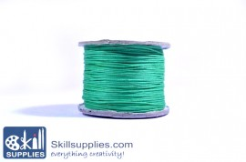 Cotton cord 0.5mm green,10 mts images