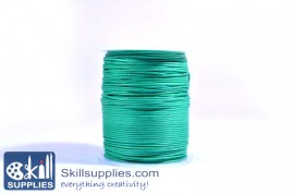 Cotton cord 1mm green,10 mts images