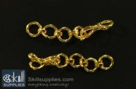 Hook chain 1 EN17 ,4 pcs   gold