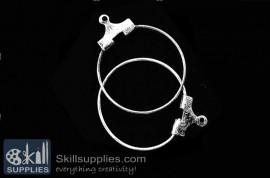 Hoops medium size  ER21 ,4 pcs  silver