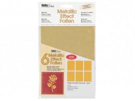 Metallic Effectfoil set 6pc gold