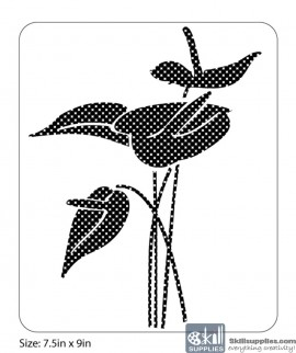 Nature Stencil Arum Lily NA003 images