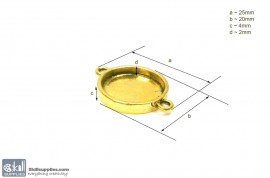 Pendant Tray36 Gold