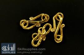 S hook 22 mm FS13 ,10 pcs  gold