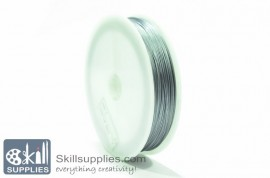 Tiger tail 0.45mm silver, 5 mts