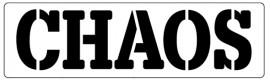Words Stencil - Chaos