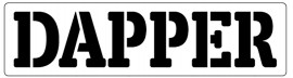 Words Stencil - Dapper