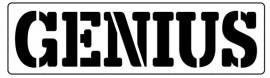 Words Stencil - Genius