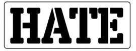 Words Stencil - Hate