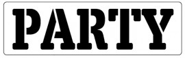 Words Stencil - Party