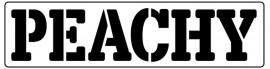 Words Stencil - Peachy