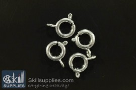 Clasp round 8mm FS6 20 pcs  silver