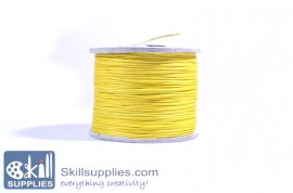 Cotton cord 0.5mm yellow,10 mts images