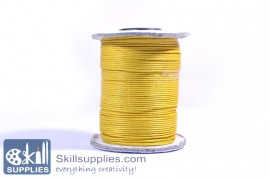 Cotton cord 1mm yellow,10 mts