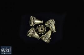 German Silver Bead Cap 9