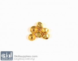 German Silver Bead caps