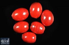 Oval glass beads albester 4