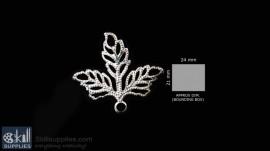 Silver Finish Leaf 5pc