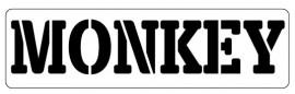 Words Stencil - Monkey