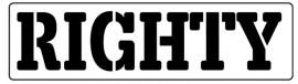 Words Stencil - Righty