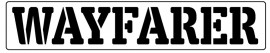 Words Stencil - Wayfarer