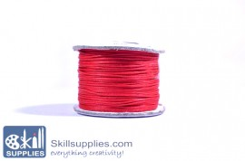 Cotton cord 0.5mm red,10 mts