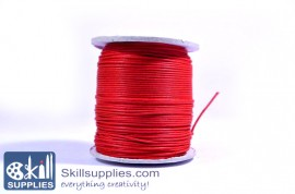 Cotton cord 1mm red ,10 mts