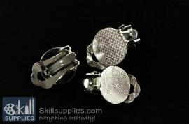 Ear clip  ER23 ,4 pcs   silver