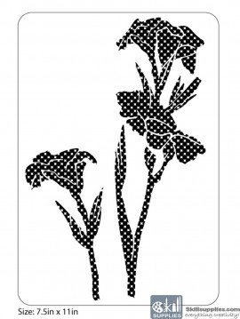 Nature Stencil Canna Lily NA005 images