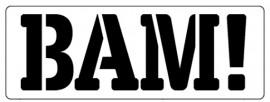 Words Stencil - Bam