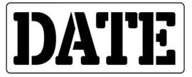 Words Stencil - Date