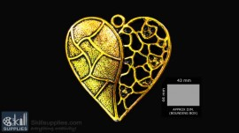 Antique gold finish Heart 1 images