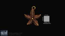 Antique gold finish Star fish images